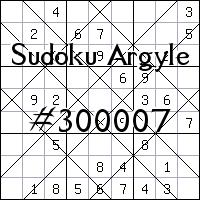 Sudoku Argyle №300007