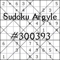 Sudoku Argyle №300393