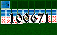 Solitaire №100671