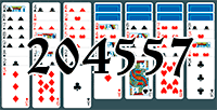 Solitaire №204557