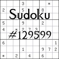 Sudoku №129599