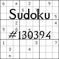 Sudoku №130394