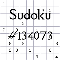 Sudoku №134073
