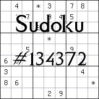 Sudoku №134372