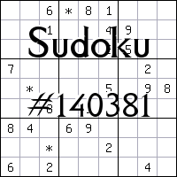 Sudoku №140381