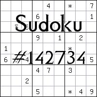 Sudoku №142734
