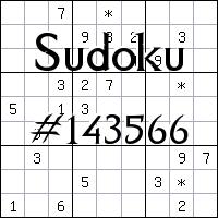 Sudoku №143566