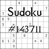 Sudoku №143711