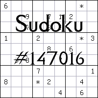 Sudoku №147016