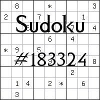 Sudoku №183324
