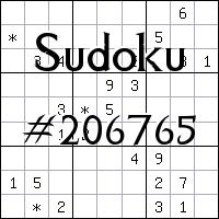 Sudoku №206765