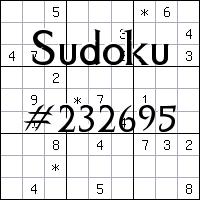 Sudoku №232695