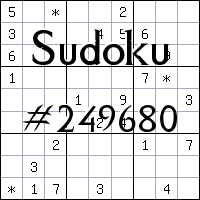 Sudoku №249680