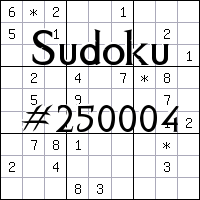Sudoku №250004