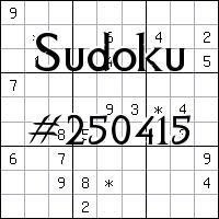 Sudoku №250415