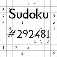 Sudoku №292481