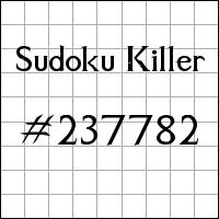 Sudoku Tueur №237782
