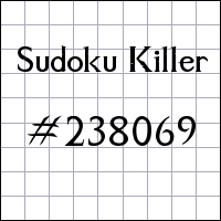 Sudoku tueur №238069