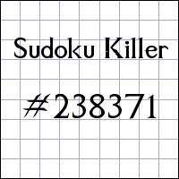 Sudoku Tueur №238371