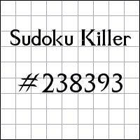 Sudoku Tueur №238393