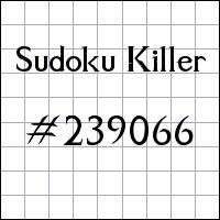 Sudoku Tueur №239066