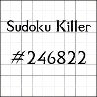 Sudoku Tueur №246822