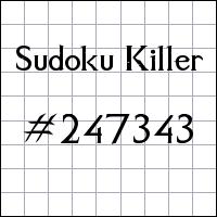 Sudoku Tueur №247343