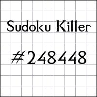 Sudoku Tueur №248448