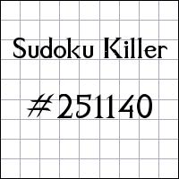 Sudoku Tueur №251140