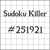 Sudoku Tueur №251921