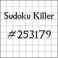 Sudoku Tueur №253179