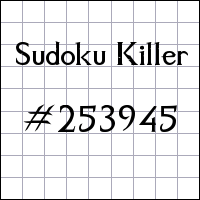 Sudoku Tueur №253945