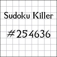 Sudoku Tueur №254636