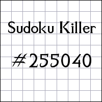 Sudoku Tueur №255040