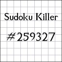 Sudoku Tueur №259327