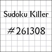 Sudoku Tueur №261308