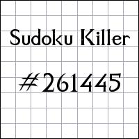 Sudoku Tueur №261445