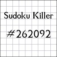Sudoku Tueur №262092