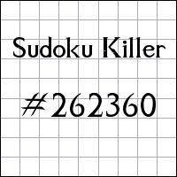 Sudoku Tueur №262360