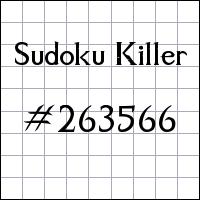 Sudoku Tueur №263566