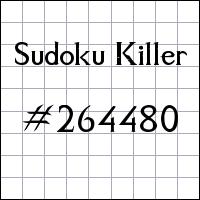 Sudoku Tueur №264480