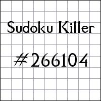 Sudoku Tueur №266104