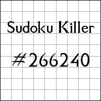 Sudoku Tueur №266240