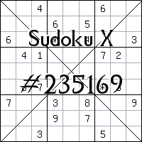 Sudoku X №235169