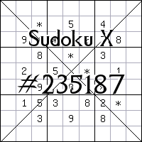 Sudoku X №235187