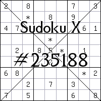 Sudoku X №235188