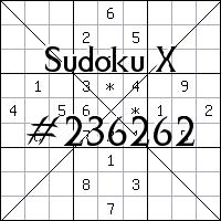 Sudoku X №236262
