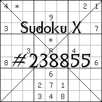 Sudoku X №238855