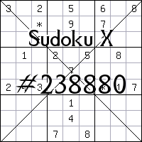 Sudoku X №238880