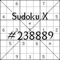 Sudoku X №238889